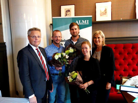 Årets vinnare av SKAPAs stipendium samt Årets Nybyggare Jämtland 2014