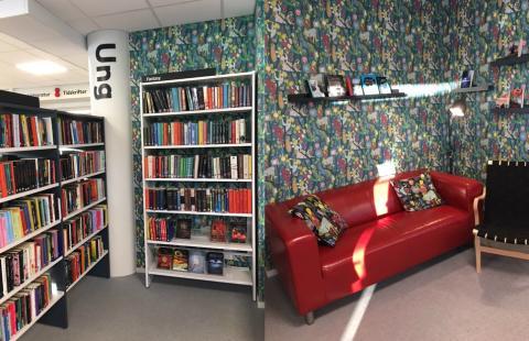 Invigningskalas i Fruängens nya bibliotek