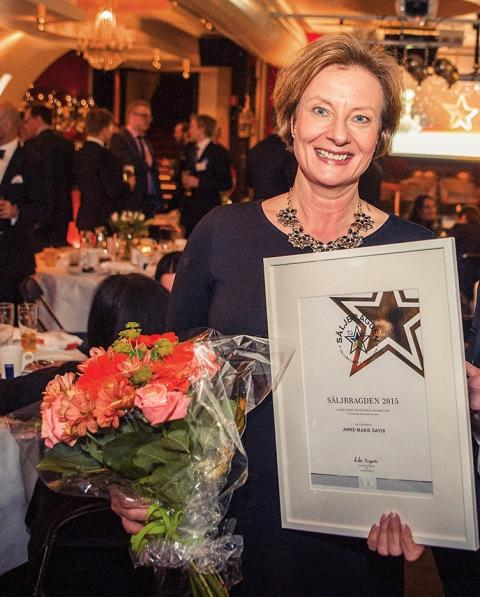 Anne-Marie Davis vinnare i Säljbragden 2015