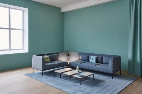MATERIA Crest sofa, table interior 1