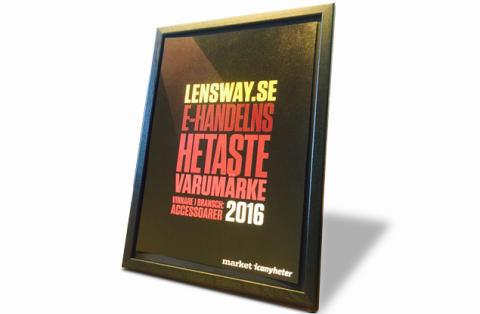 LensWay.se vinner pris för hetaste varumärket