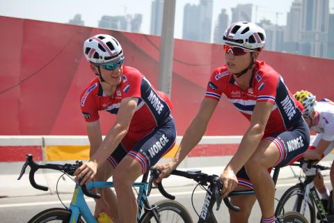 Forfang og Grøndahl Jansen under sykkel-VM 2016