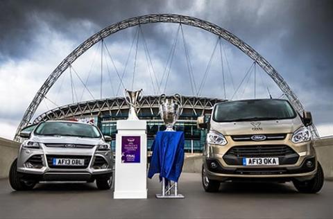 Ford feirer 21 år som samarbeidspartner for UEFA Champions League