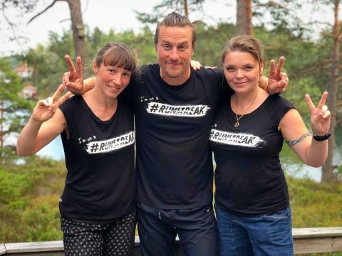 Ellen Westfelt, Daniel Karlsson och Ann-Elise Tammar, tre hängivna runstreakers.
