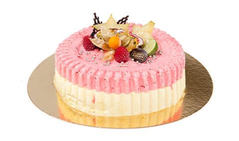 Glasstårta Hallon- och passionssorbet (