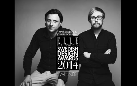 Vi gratulerar våra formgivare Broberg & Ridderstråle till Årets designer!