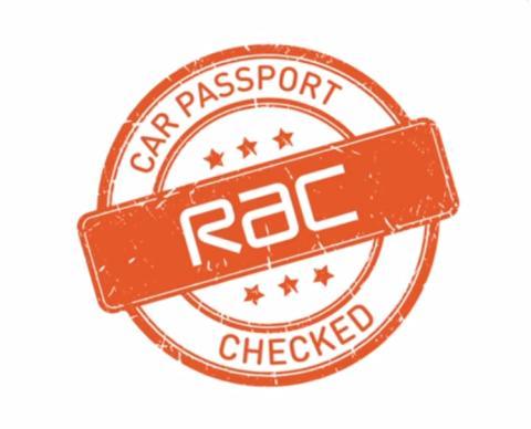 RAC Car Passport logo on white background