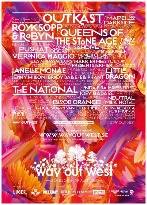Way Out West 2014 | 7-9 Augusti. Slotsskogen