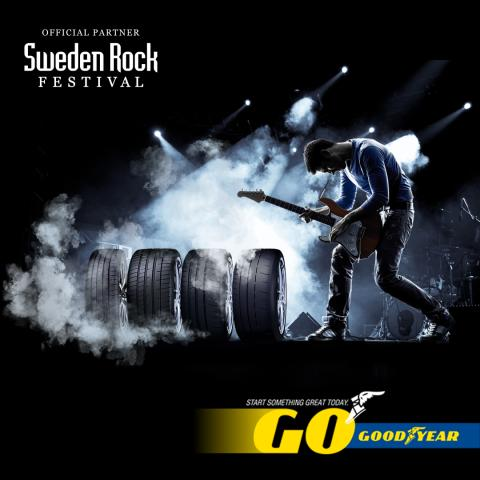 Goodyear är officiell partner till Sweden Rock Festival