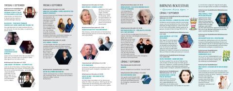 Program för Kristianstad bokfestival 2019