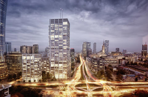 Skanska investerar EUR 50M, cirka SEK 480 miljoner kronor, i andra fasen av kontorsprojekt i Warszawa, Polen