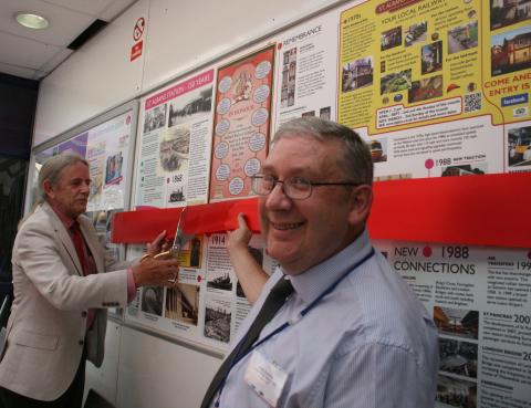 History panel installed to celebrate 150 years of St Albans City station