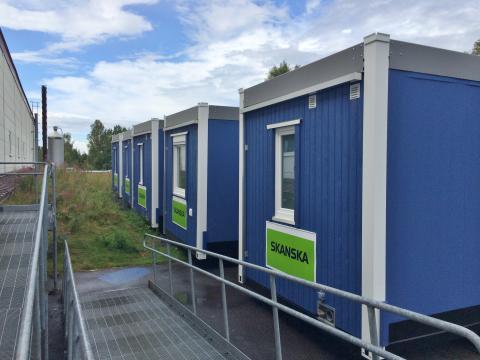 Zenergy's brandsäkra och energieffektiva bodar får beröm av Skanska