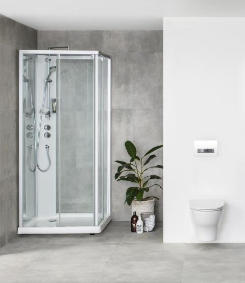 Nelikulmainen Showerama 10-5 -suihkukaappi