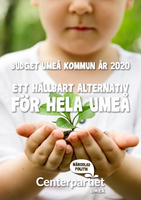 Centerpartiet Umeås budgetförslag för år 2020