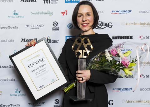 Årets förebyggare - Återvinningsgalan 2018: Ivana Kildsgaard