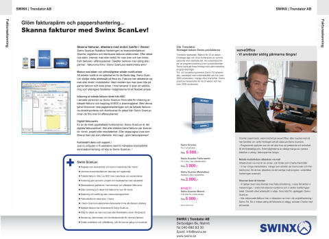 Swinx finns med i Vismas Integrationskatalog i höst..!
