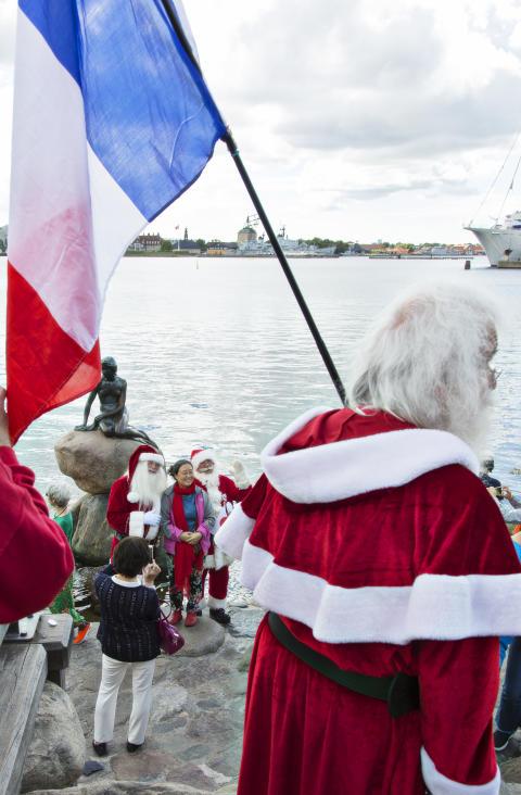 Fransk julemand ved den Lille Havfrue