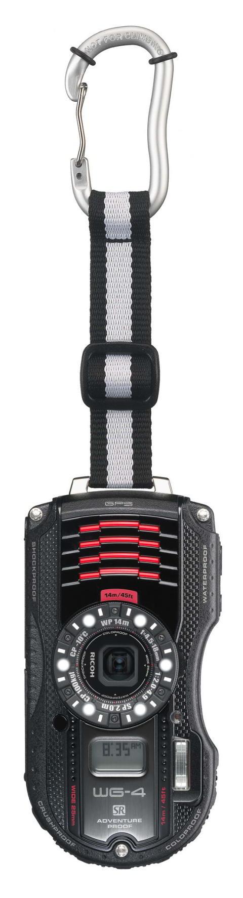Ricoh WG-4 GPS sort med karabinkrok