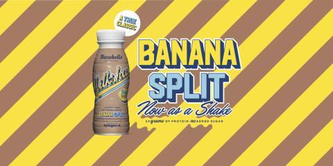 A true classic: Banana Split - nu som proteinmilkshake