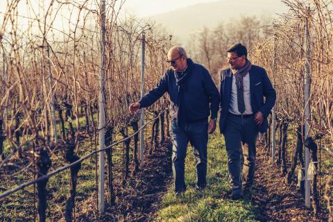 Giancarlo_Vason_Alessandro_Angilella_inspecting_vineyards