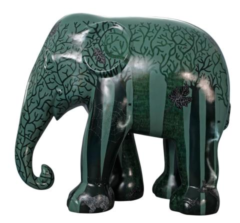 Tour elephant appearing at Cardiff: Forest designed by Claudia Schiffer