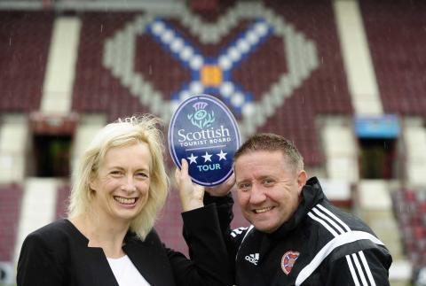 Hearts score VisitScotland hat-trick