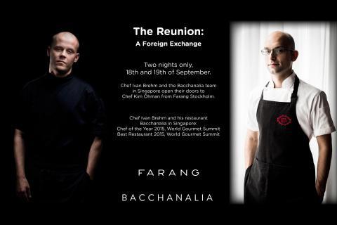 Farang gästar Bacchanalia i Singapore.