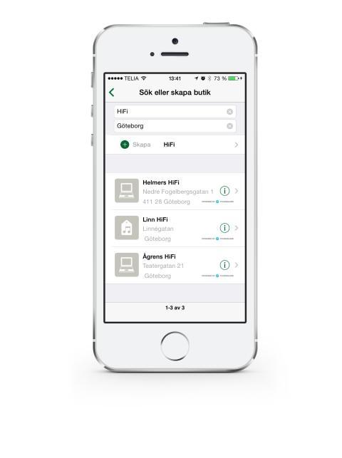 Foursquare integrerat i Sparakvittot