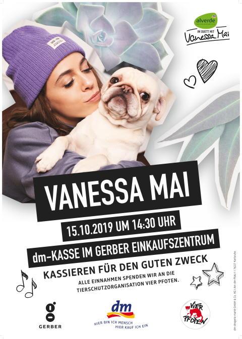 Einladung zur Kassieraktion mit Vanessa Mai
