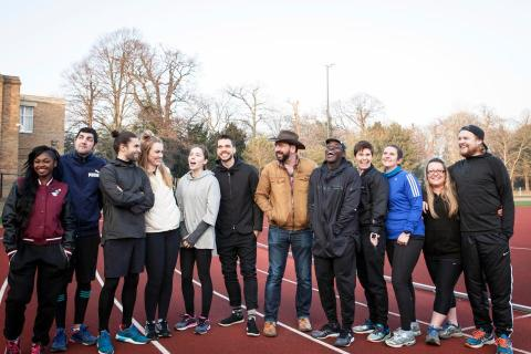 BBC One's Mind Over Marathon runners including Paul Plowman, second from left