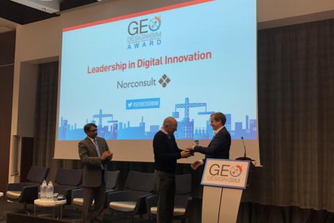 Norconsult vant europeisk pris for sitt arbeid med digital innovasjon