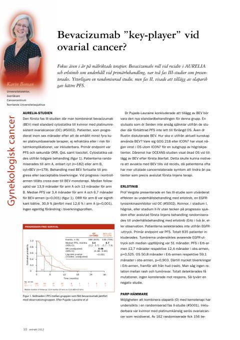 Överläkare Karin Boman – Nytt om behandling av äggstockscancer och endometriecancer, ASCO 2012
