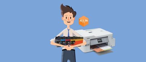 Zéro soucis, zéro entretien – All in Box change votre façon d'imprimer