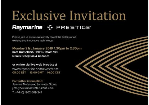 Reminder: boot Düsseldorf - Raymarine and Prestige Press Event and Live Web Stream