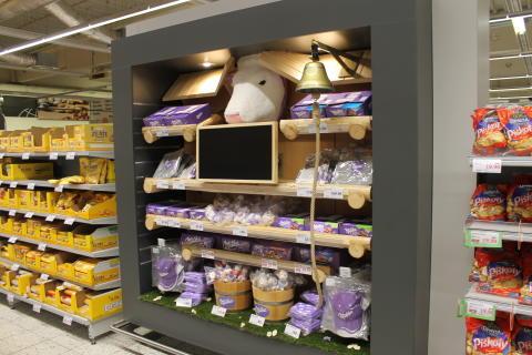 Milka nové shelf-in-shelf vystavení
