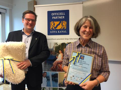 Kaffeteriet i Borensberg har utsetts till Årets Längs Göta kanalföretag