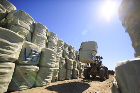 Balar med importerat avfall för energiåtervinning
