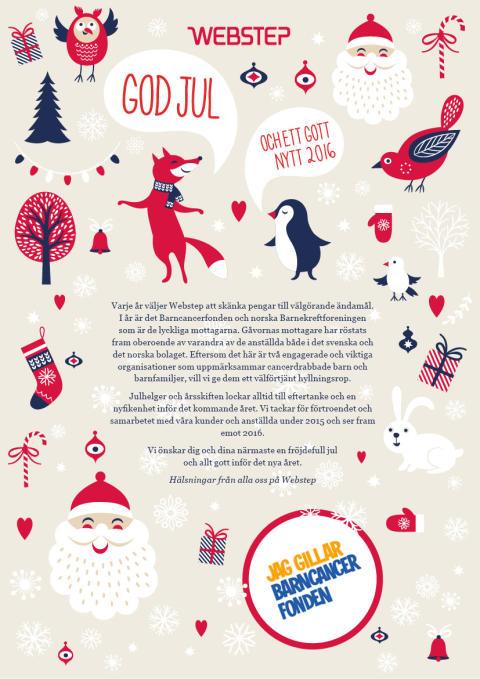 Julgåva till Barncancerfonden och Barnekreftforeningen