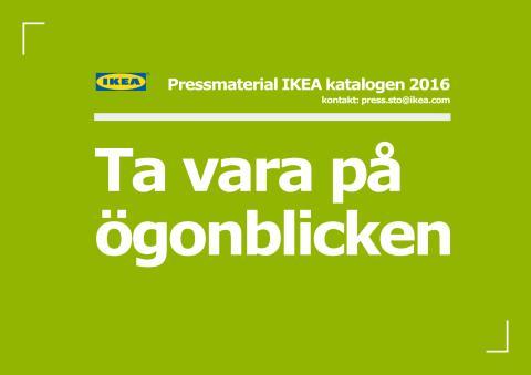 IKEA katalogen 2016 pressmaterial
