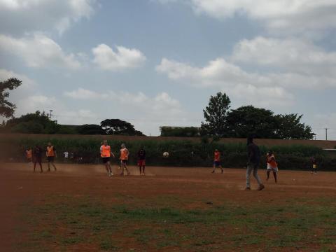 Fotbollsmatch i Kiandutu