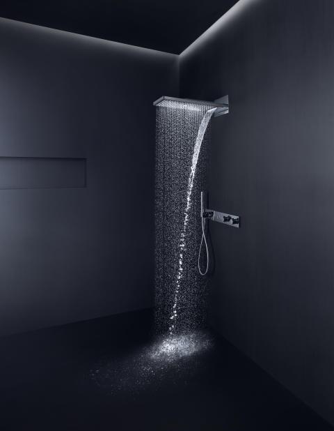 AXOR Showers 250/580 i miljö med Select termostat