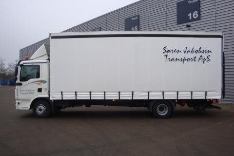 Den nye MAN til Søren Jakobsen Transport A/S