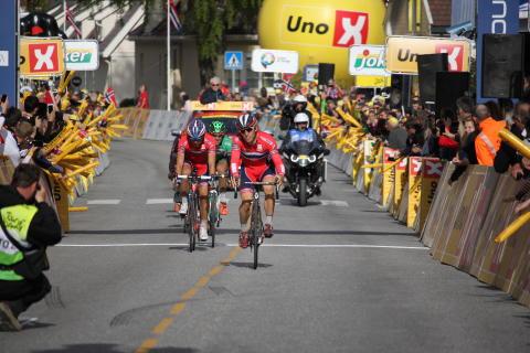 Holst Enger og Eiking inn til andre- og trejdeplass på 2.etappe Tour of Norway