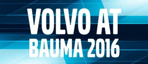 Bauma 2016 med Volvo Construction Equipment
