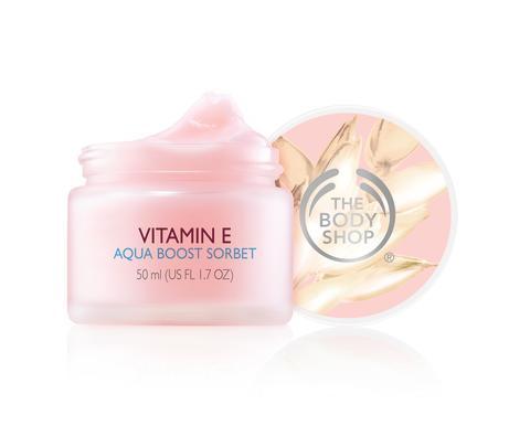 Vitamin E Aqua Boost Sorbet öppen med lock