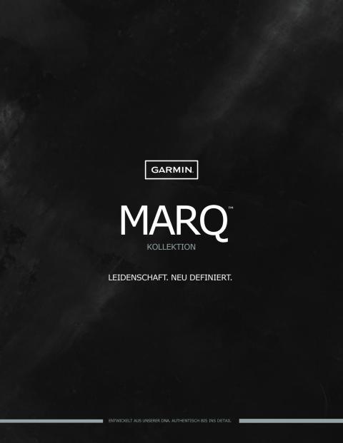 Garmin MARQ Kollektion Datenblätter