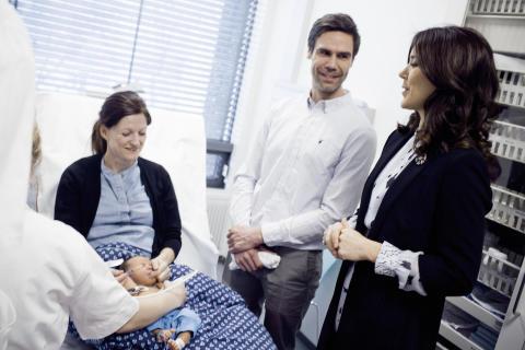 H.K.H. Kronprinsesse Mary besøger Rigshospitalet ifb. Copenhagen Heart-projektet den 17. januar 2017