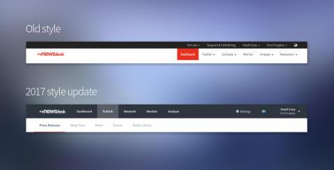 Produktopdatering: Mynewsdesk ændrer udseende, og værktøjet opdateres