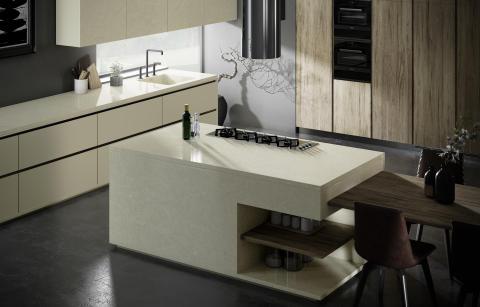 Silestone Silken Pearl Kitchen 2